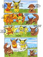 Evolved Eevees- Play time by BEAR2041