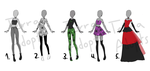Goth Outfit Batch CLOSED by terra-adopts
