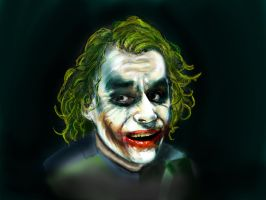 Joker Heath Ledger by Vinnyjohn13