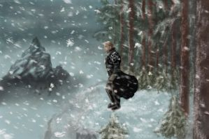 Anders - Dragon Age II.Dragon Age and Skyrim cover by polinaart1