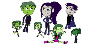 The Logans: Teen Titans Go! Style by 1529jake