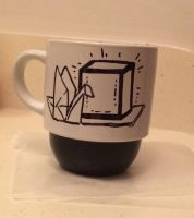 'If You Must Blink, Do It Now' .:hand-drawn mug:. by Angelix88