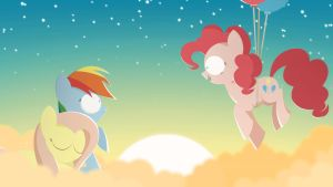 On Fluffy Clouds by LimeJerry