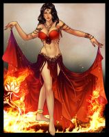 Dancing fire by Evanyell