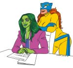 she hulk and Hellcat by SakariSingh