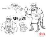 Butch and Nom Concept Art by JoieArt