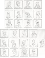 25 expressions of Hilda Maike by Donniebellorniere