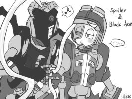Spoiler and Black Ace by ill825