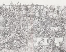 TLoLRT Pages 6 and 7 Pencils by KurtBelcher1