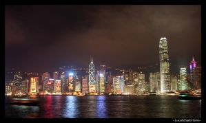 Hong Kong Skyline by LucidDistortion