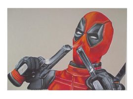 DEADPOOL ( Ahhhh. I'm touching myself tonight.) by ARTIEFISHEL79
