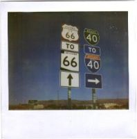 Polaroids in America: Route 66 by aesthetique