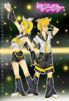 Vocaloid: Kagamine Rin and Len by watermelonxD