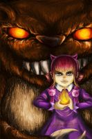 Annie and Tibbers by kamupludge