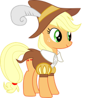 Applejack as Smart Cookie by darkxeetsh