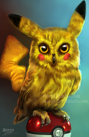 Pokemon - Pikachowl by 4steex