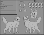 Canine Reference Template - With Hair by psykii