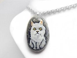 Persian Cat Pendant Necklace by sobeyondthis