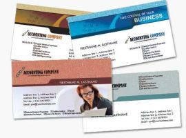 4 Financial Business Cards for Accountants by fiftyfivepixels