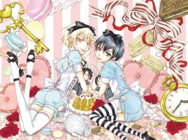 Alois and Ciel In Wonderland by Makuro696