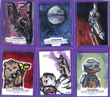 Topps Galactic Files 2 sketch cards by kettleart