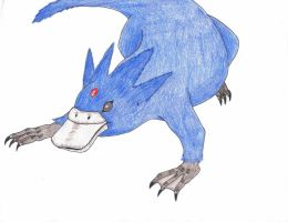 Realistic Golduck by sable-king