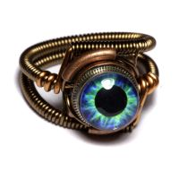 Steampunk Plasma eye Ring by CatherinetteRings