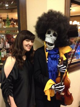 Brook cosplay with Stephanie Young! by d3epsilonx2