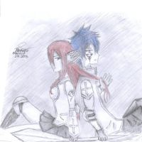 Erza and Jellal.. It's because of your hair by Pennyloves26