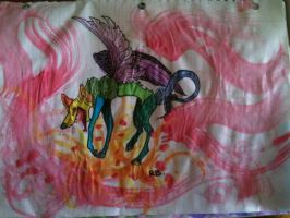 Monster W/ Water Color by WolvesHowl457