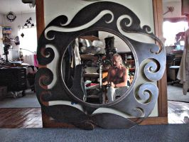 Large Art Nouveau Mirror by ou8nrtist2
