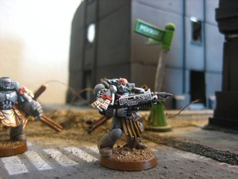 Tactical Space Marine by aaronprovost
