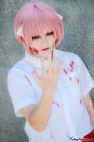Elfen Lied: Blood Stained Hands by lovelyyorange
