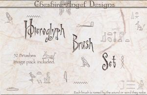 Hieroglphs Brush Set by Cheshire-Angel