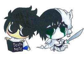 Ulquiorra and L by tobiie