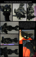 httyd Nightfury Plush Shoulder Sitters by Darksoul-wolf