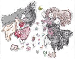 Sephiroth and Hao: Afterward.. by MagicianofBlackchaos