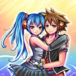 Sora and Miku. by Sukesha-Ray