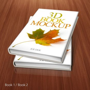 3D Book Mockup by srvalle