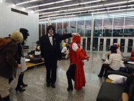 Grell and Sebastian cosplay by Sinta54