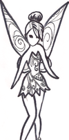 Tinkerbell Tinkerbell Coloring page by Utaleasha