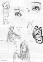 Class doodles by Cecilou-chan