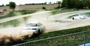 White 240's - Spraying Dirt by FragmentChaos