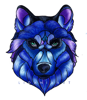 Blue Wolf by LidaniaArt