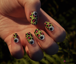 Googly Nail Art by KayleighOC
