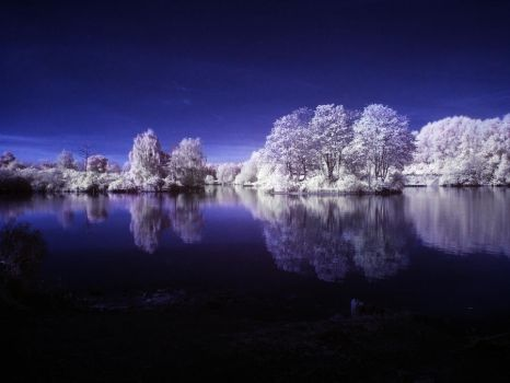 Infrared Lake by DCooper20