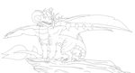 Dragon Lineart 10 by Death-Tendency