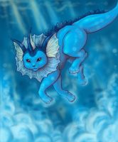 Vaporeon by fairy-mothra