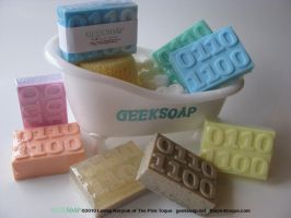 3D Binary GEEKSOAP Massage Bar by pinktoque