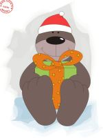 christmas bear by asiaq